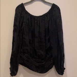 WHBM size M black off the shoulder top